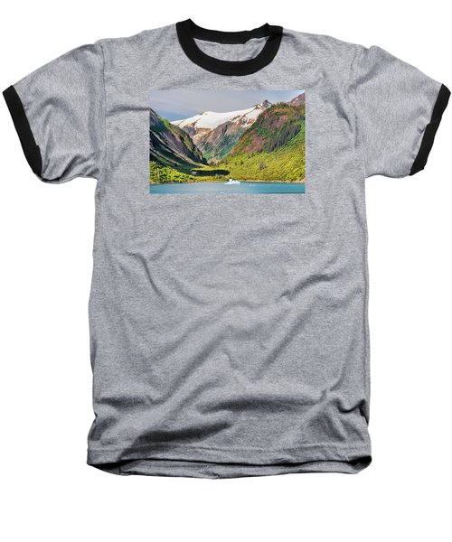 Baseball T-Shirt featuring the photograph Snow Capped by Lewis Mann