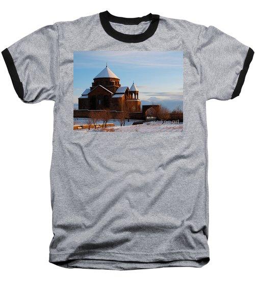 Snow Capped St. Hripsipe Church At Winter, Armenia Baseball T-Shirt by Gurgen Bakhshetsyan