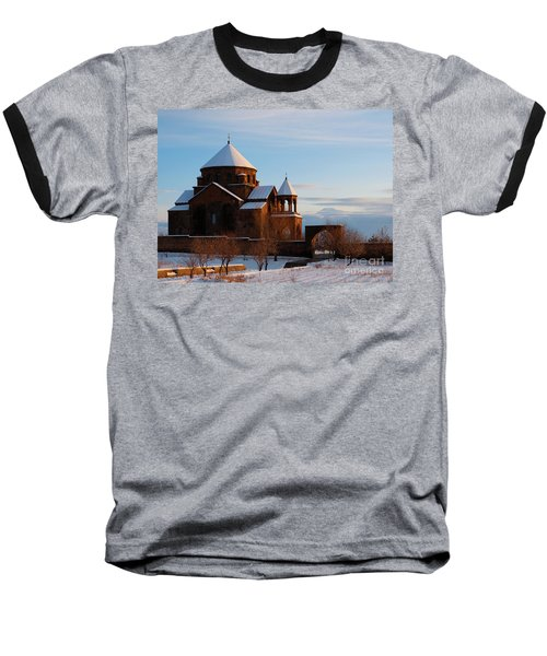 Snow Capped St. Hripsipe Church At Winter, Armenia Baseball T-Shirt