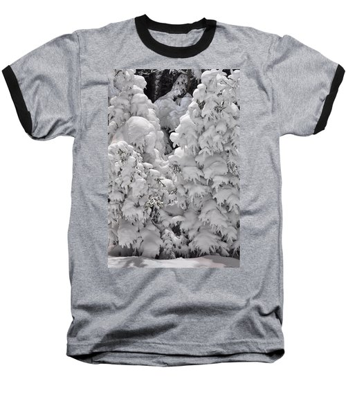 Baseball T-Shirt featuring the photograph Snow Coat by Alex Grichenko
