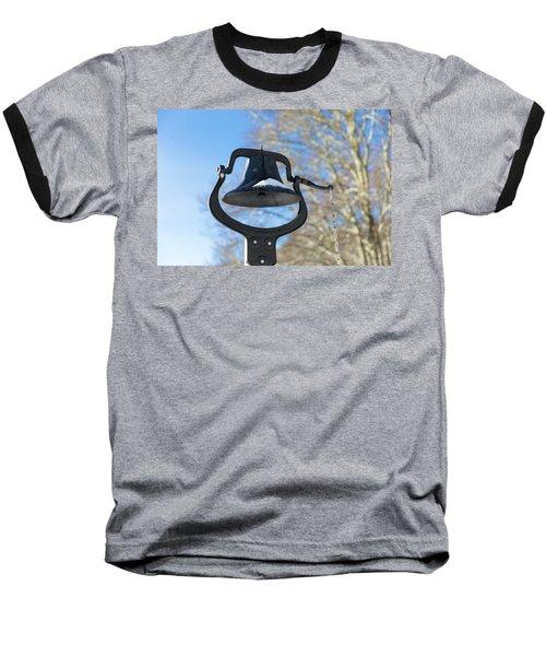 Snow Covered Bell Baseball T-Shirt