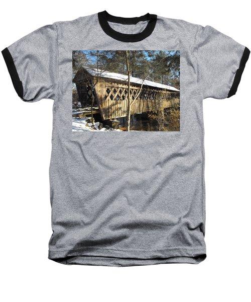 Snow Covered Bridge Baseball T-Shirt