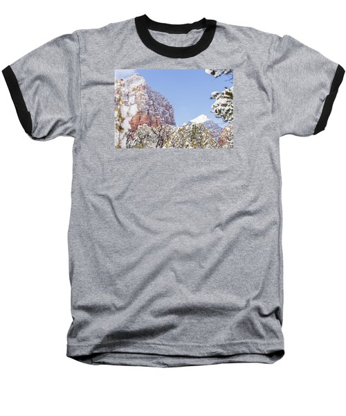 Baseball T-Shirt featuring the photograph Snow Covered by Laura Pratt