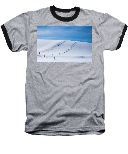 Snow Covered Pasture Baseball T-Shirt