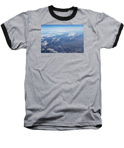 Snow Covered Rocky  Baseball T-Shirt