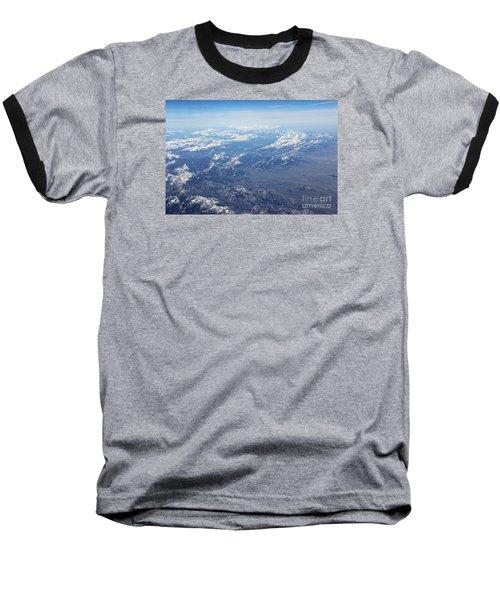 Snow Covered Rocky  Baseball T-Shirt