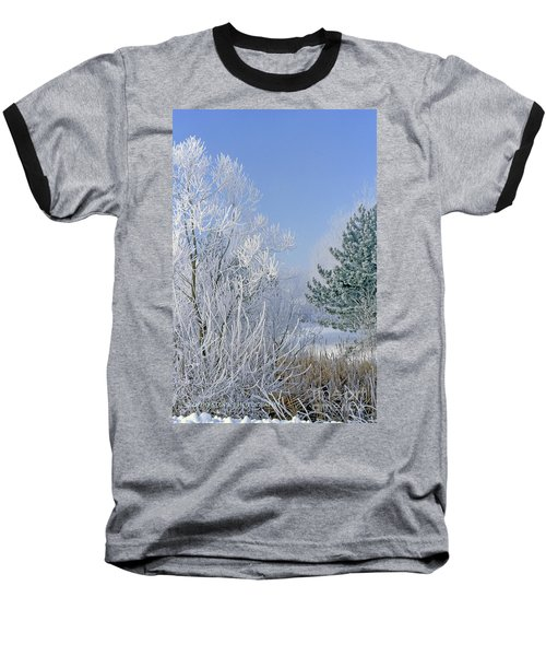 2a357 Snow Covered Trees At Alum Creek State Park Baseball T-Shirt
