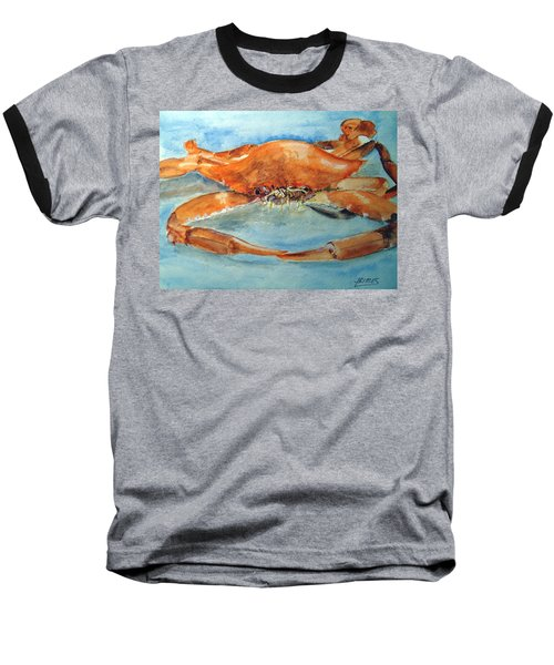 Baseball T-Shirt featuring the painting Snow Crab Is Ready by Carol Grimes