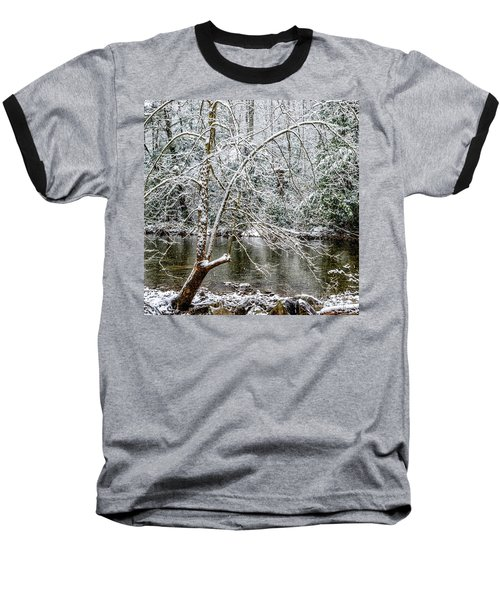Baseball T-Shirt featuring the photograph Snow Cranberry River by Thomas R Fletcher