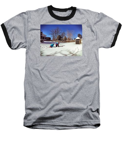 Snow Day Baseball T-Shirt