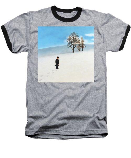Snow Day Baseball T-Shirt by Thomas Blood