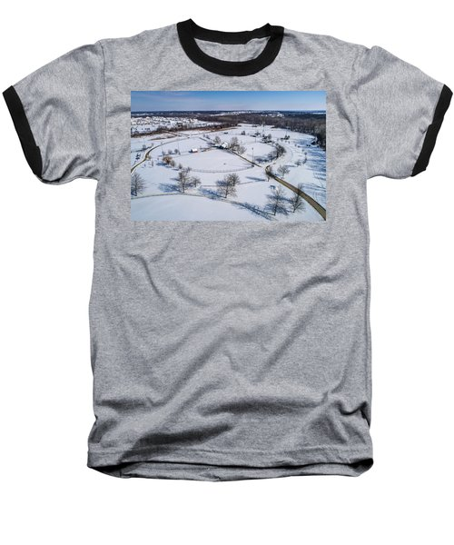 Snow Diamonds Baseball T-Shirt