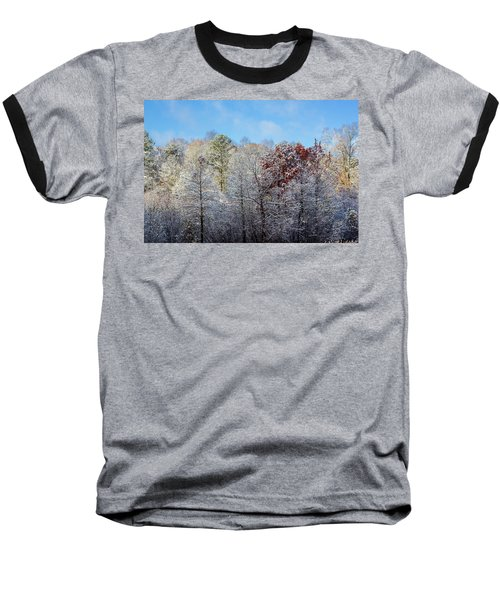 Snow Dust Baseball T-Shirt