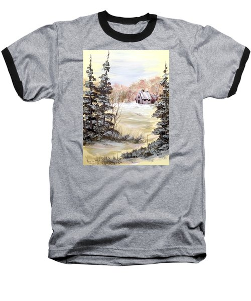 Snow Everywhere Baseball T-Shirt by Dorothy Maier