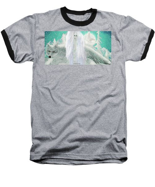 Snow Fairy Baseball T-Shirt
