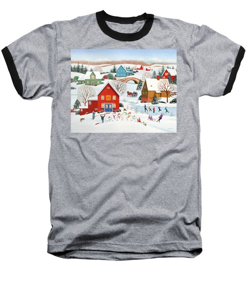 Snow Family  Baseball T-Shirt