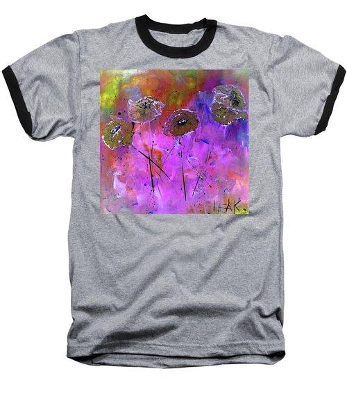 Snow Flowers Baseball T-Shirt by Lisa Kaiser