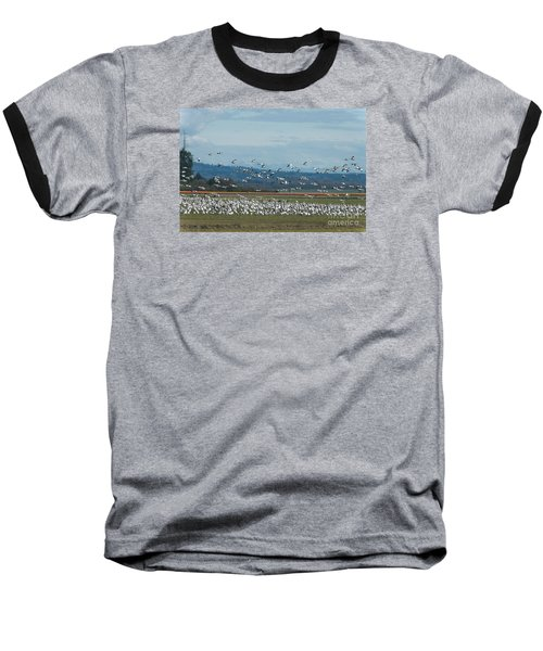 Snow Geese And Tulips Baseball T-Shirt