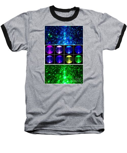 Snow Globe Abstract Baseball T-Shirt by Patricia E Sundik