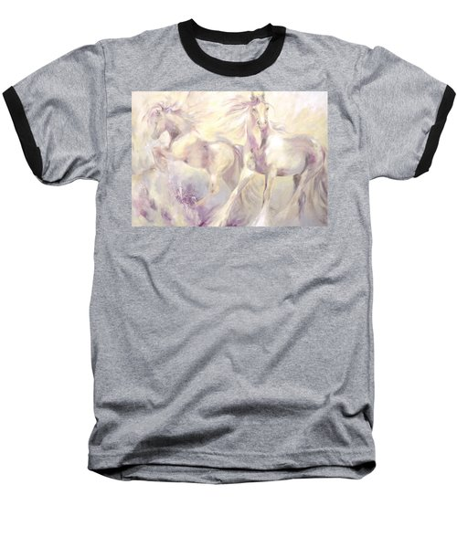 Baseball T-Shirt featuring the painting Snow Gypsies by Dina Dargo