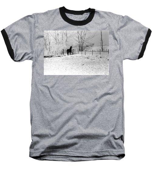 Snow Horse Baseball T-Shirt