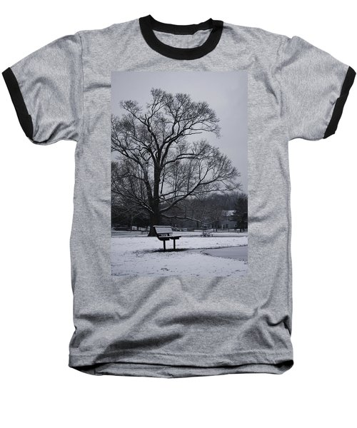 Snow In East Brunswick Baseball T-Shirt by Vadim Levin