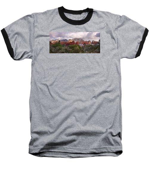 Snow In Heaven Panorama Baseball T-Shirt