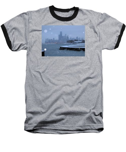Snowy Chicago Baseball T-Shirt