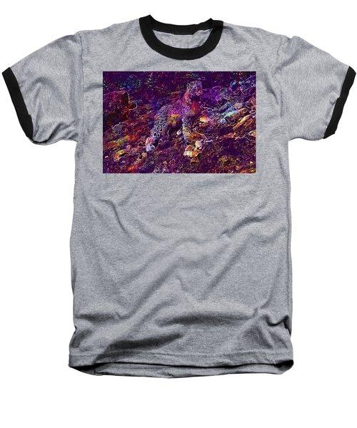 Baseball T-Shirt featuring the digital art Snow Leopard Cat Animals  by PixBreak Art
