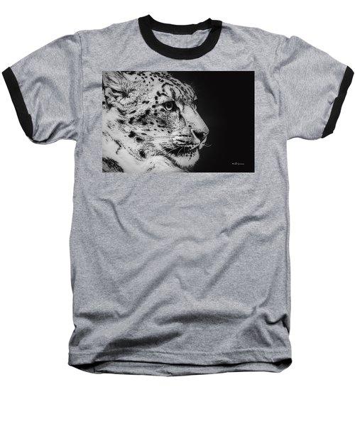 Snow Leopard Baseball T-Shirt