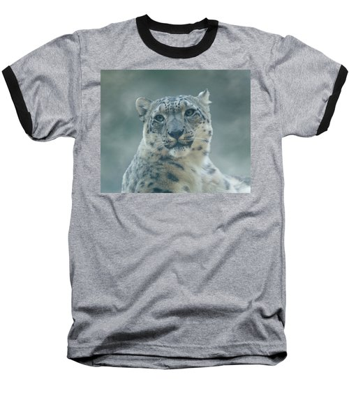Baseball T-Shirt featuring the photograph Snow Leopard Portrait by Sandy Keeton