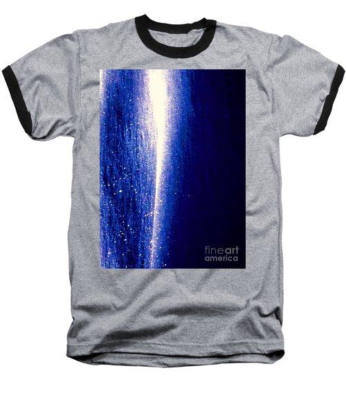 Snow Lightning Baseball T-Shirt by Jennifer Lake