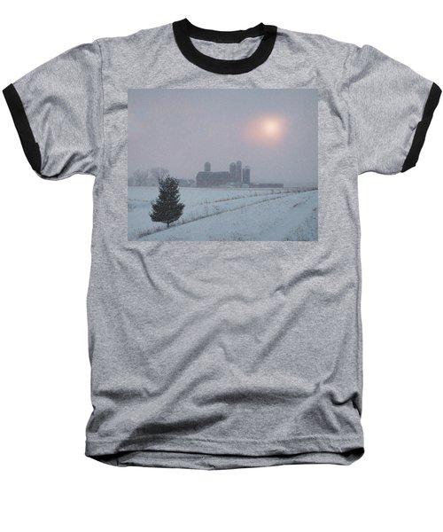 Snow Muted Sunset Baseball T-Shirt