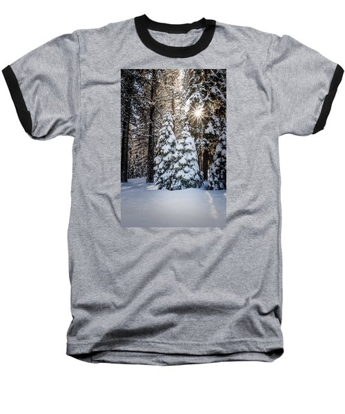 Snow On Spooner Summit Baseball T-Shirt