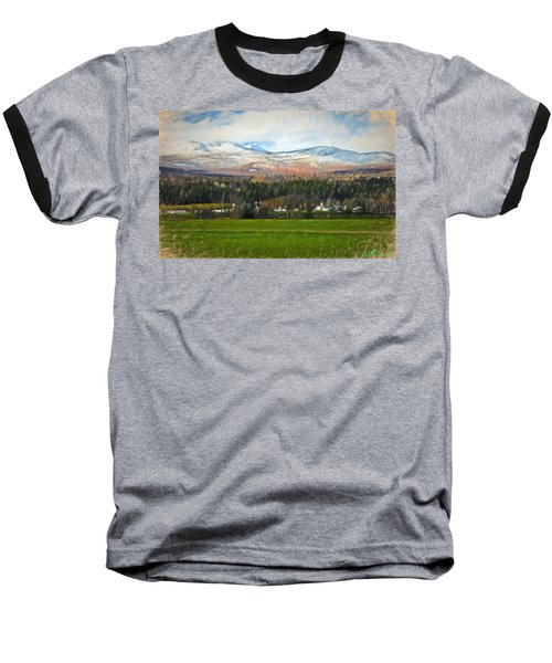 Snow On The Mountains Baseball T-Shirt