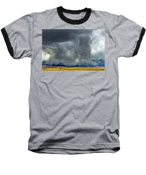 Snow On The Rockies Baseball T-Shirt