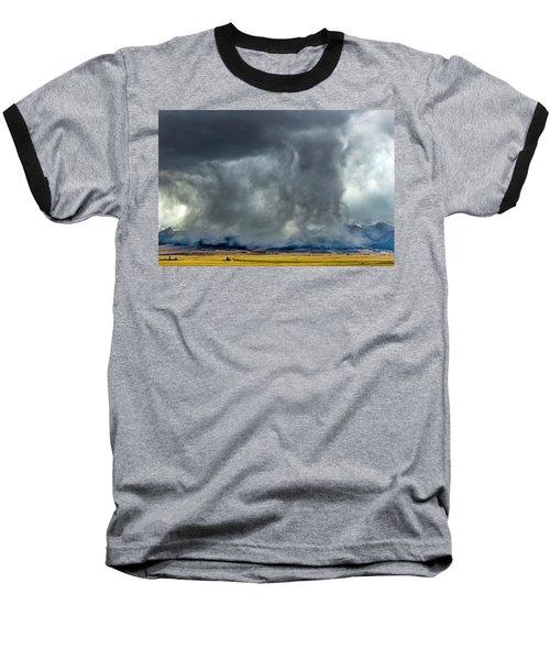 Snow On The Rockies Baseball T-Shirt