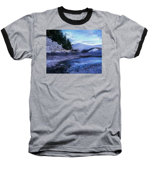 Snow On The Sand Baseball T-Shirt