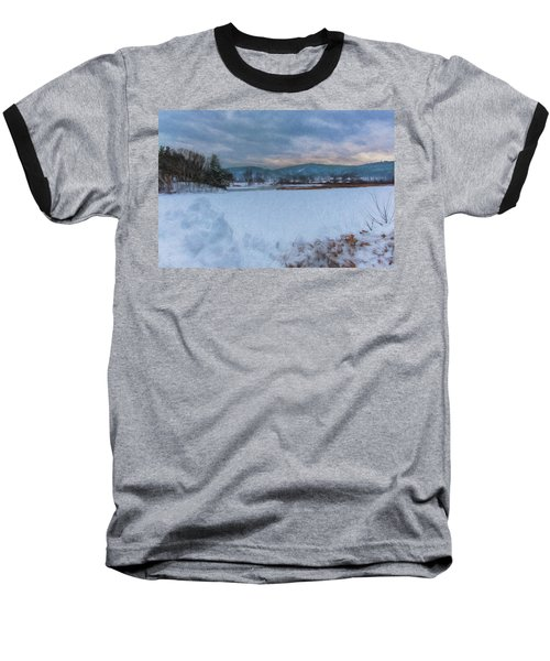 Snow On The West River Baseball T-Shirt