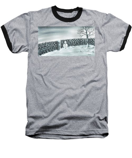 Snow Patrol Baseball T-Shirt by Kenneth Clarke