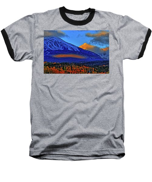 Baseball T-Shirt featuring the photograph Snow Peak Fall by Scott Mahon