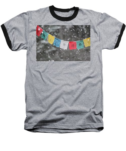 Snow Prayers Baseball T-Shirt
