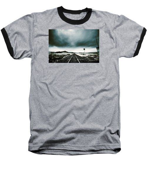 Baseball T-Shirt featuring the photograph Snow Railway by Jorgo Photography - Wall Art Gallery