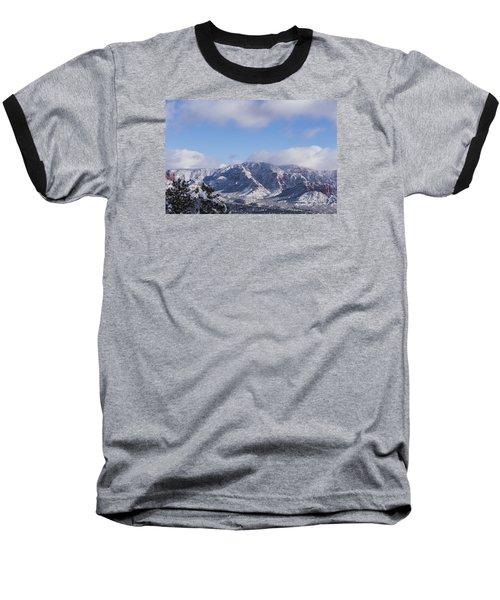 Snow Rim Baseball T-Shirt by Laura Pratt