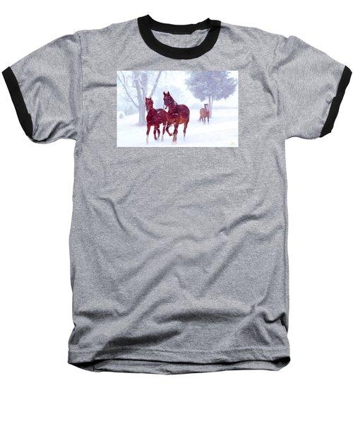 Snow Run Baseball T-Shirt
