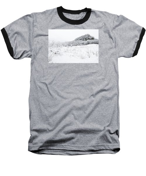 Baseball T-Shirt featuring the photograph Snow Scene by Larry Ricker