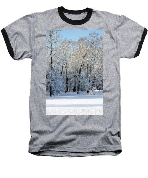 Snow Scene One Baseball T-Shirt