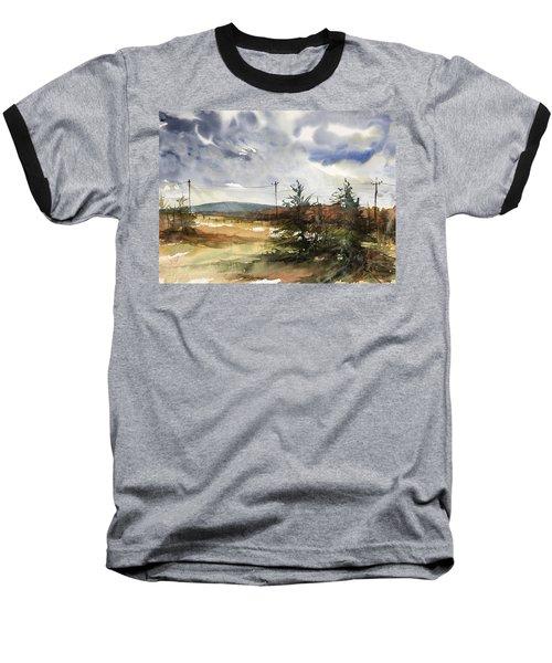 Snow Sky In Fall Baseball T-Shirt