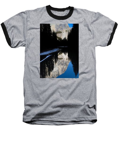 Baseball T-Shirt featuring the photograph Snow Sneaks In by Lora Lee Chapman