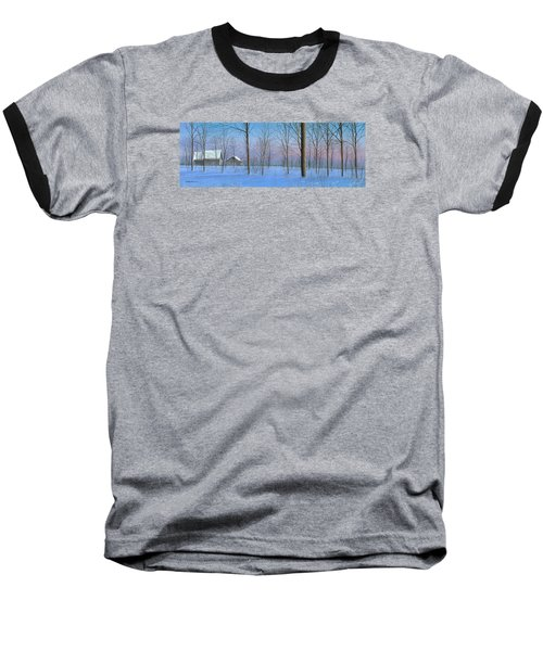 Baseball T-Shirt featuring the painting Snow Spectacle by Mike Brown